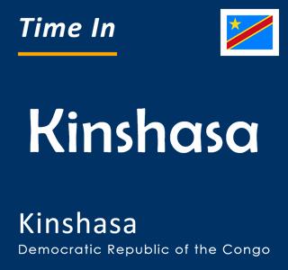 Current time in Kinshasa, Kinshasa, Democratic Republic of the Congo