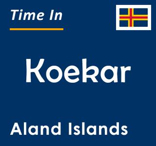 Current time in Koekar, Aland Islands