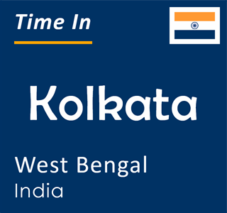 Current time in Kolkata, West Bengal, India