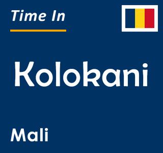 Current time in Kolokani, Mali