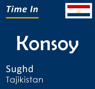 Current time in Konsoy, Sughd, Tajikistan