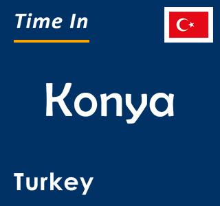 Current time in Konya, Turkey