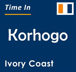 Current time in Korhogo, Ivory Coast