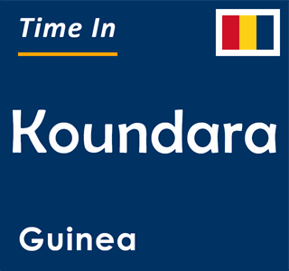 Current time in Koundara, Guinea