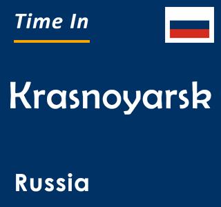 Current time in Krasnoyarsk, Russia