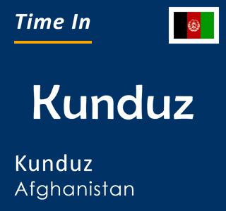 Current time in Kunduz, Kunduz, Afghanistan