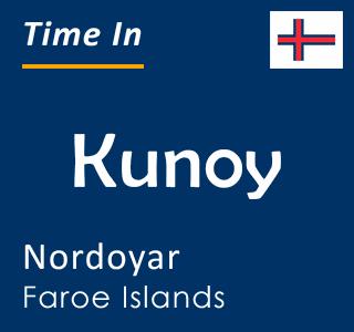 Current time in Kunoy, Nordoyar, Faroe Islands