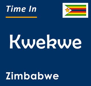Current time in Kwekwe, Zimbabwe