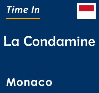 Current time in La Condamine, Monaco