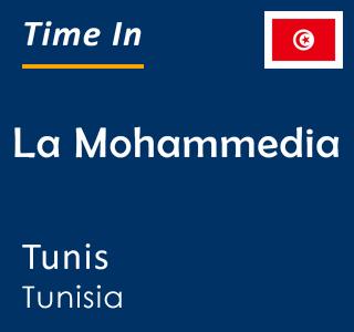 Current time in La Mohammedia, Tunis, Tunisia