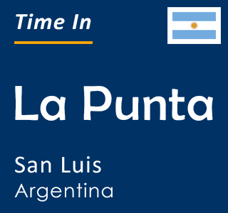 Current time in La Punta, San Luis, Argentina