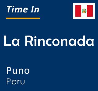 Current time in La Rinconada, Puno, Peru