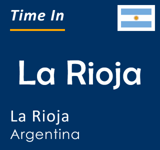 Current time in La Rioja, La Rioja, Argentina