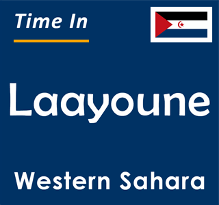 Current time in Laayoune, Western Sahara