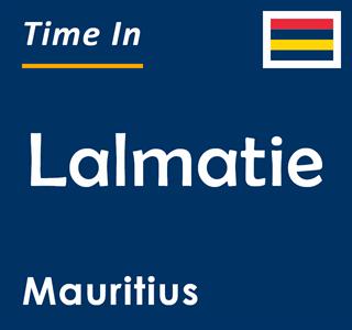 Current time in Lalmatie, Mauritius