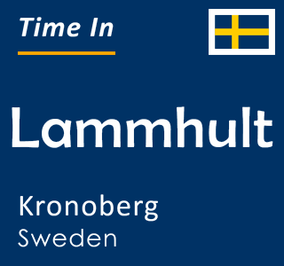 Current time in Lammhult, Kronoberg, Sweden