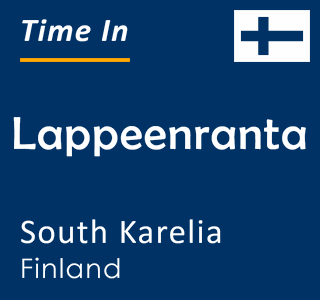 Current time in Lappeenranta, South Karelia, Finland