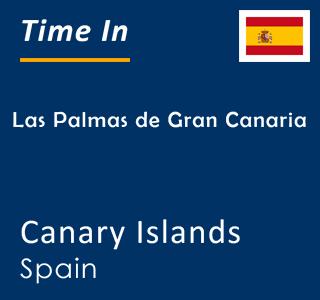 Current time in Las Palmas de Gran Canaria, Canary Islands, Spain