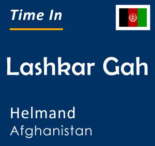 Current time in Lashkar Gah, Helmand, Afghanistan
