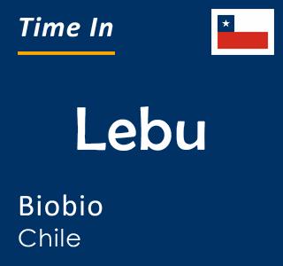 Current time in Lebu, Biobio, Chile