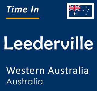 Current time in Leederville, Western Australia, Australia