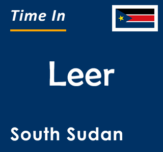 Current time in Leer, South Sudan