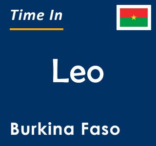 Current time in Leo, Burkina Faso