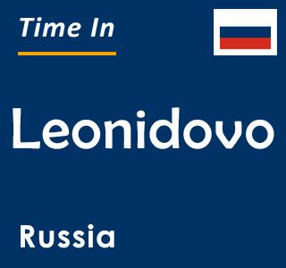 Current time in Leonidovo, Russia