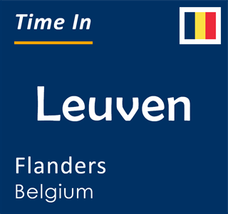 Current time in Leuven, Flanders, Belgium