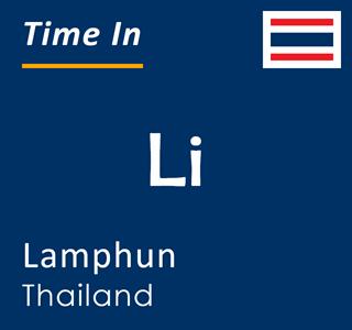 Current time in Li, Lamphun, Thailand