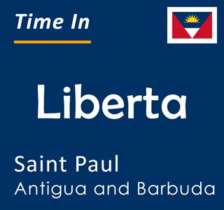 Current time in Liberta, Saint Paul, Antigua and Barbuda