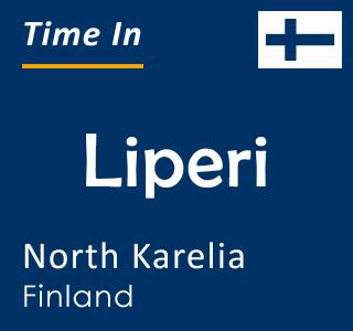 Current time in Liperi, North Karelia, Finland