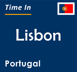 Current time in Lisbon, Portugal