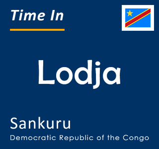 Current time in Lodja, Sankuru, Democratic Republic of the Congo