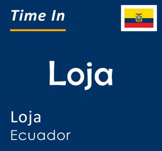 Current time in Loja, Loja, Ecuador