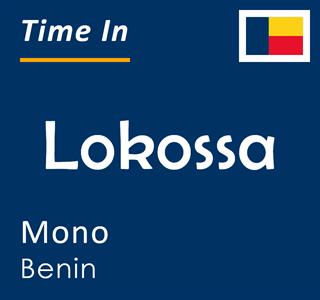 Current time in Lokossa, Mono, Benin