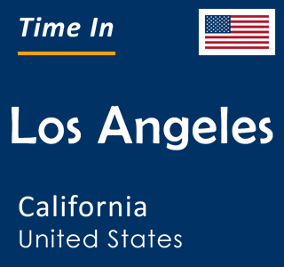 Current time in Los Angeles, California, United States