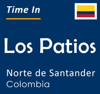 Current time in Los Patios, Norte de Santander, Colombia