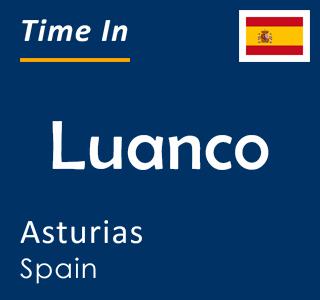 Current time in Luanco, Asturias, Spain