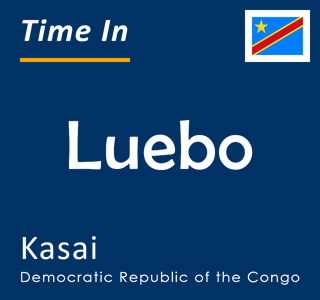 Current time in Luebo, Kasai, Democratic Republic of the Congo