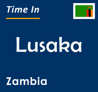 Current time in Lusaka, Zambia