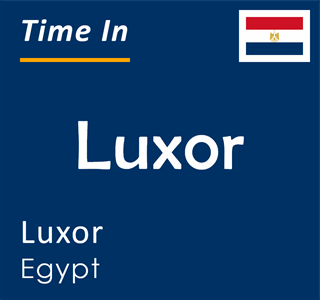 Current time in Luxor, Luxor, Egypt