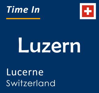 Current time in Luzern, Lucerne, Switzerland