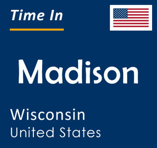 Current time in Madison, Wisconsin, United States