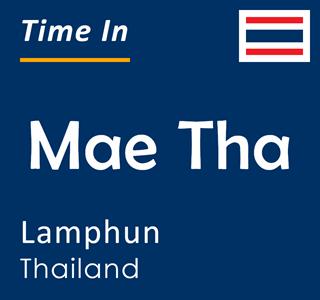 Current time in Mae Tha, Lamphun, Thailand