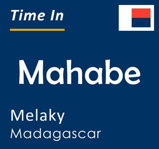 Current time in Mahabe, Melaky, Madagascar