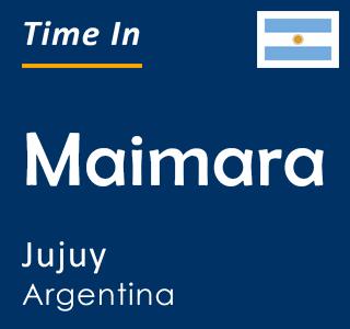 Current time in Maimara, Jujuy, Argentina