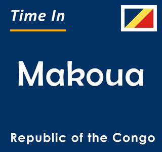 Current time in Makoua, Republic of the Congo
