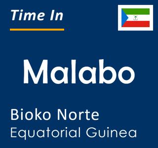 Current time in Malabo, Bioko Norte, Equatorial Guinea