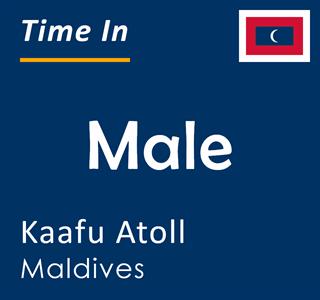 Current time in Male, Kaafu Atoll, Maldives